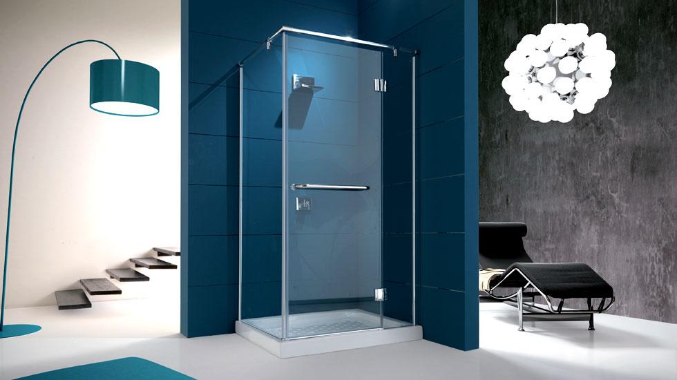 Box doccia per piatto rettangolare b vetro temperato mm