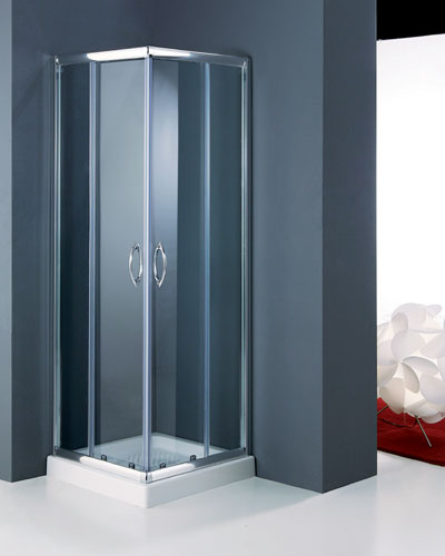 Box e porte per doccia tamanaco in vetro cristallo temperato e ...