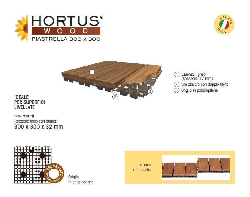 CARATTERISTICHE TECNICHE PAVIMENTO PER ESTERNO HARTUS WOOD 300x300mm
