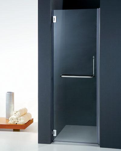 Porta battente Vetro temperato cerniere singole cromo PB10 70cm