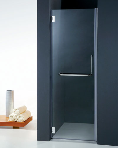 Porta battente Vetro temperato cerniere singole cromo PB10 90cm